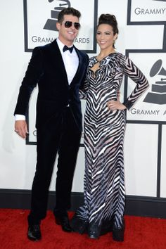 As much as I greatly dislike Robin Thicke, he looked pretty schnazzy in a navy Giorgio Armani tux.