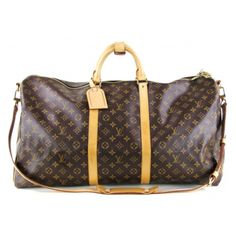 Louis Vuitton Monogram Keepall 60 Duffle Bag with Detachable Strap