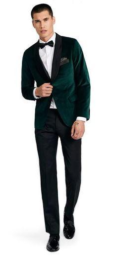 Demonstrate your eye for style with the Harford Emerald Velvet Dinner Jacket. The perfect attire for special events in the fall and winter, this jacket is luxuriously soft and sleek. Winter Wedding Attire, Tuxedo Wedding, Wedding Suits, Rustic Wedding Suit, Green Suit Men, Green Suit Jacket, Velvet Dinner Jacket, Velvet Jacket, Groomsmen Suits