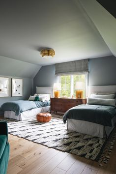 A Modern Classic Renovation (Before + After) - Emily A. Classic House, Modern Classic, Family Room, Home And Family, Floor Layout, Visual Comfort, Kids Bedroom, Blue Bedroom, Bedroom Ideas