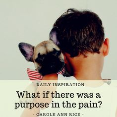 What if there was a purpose in the pain?