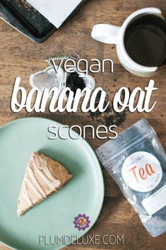 The beauty of this vegan banana oat scones recipe is that it's very basic, leaving you with the power to dress them up as you please. #vegan #scones #dairyfree