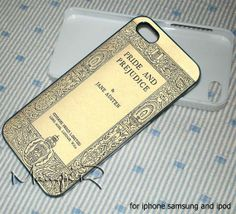 Cover Book Jane Austen case for iphone 4,iphone 4s,iphone 5,iphone 5c,iphone 5s,samsung galaxy s3/s4,ipod touch 4 and 5