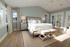 Bedroom wall color is Wedgewood Gray Benjamin Moore. Nagwa Seif Interiors
