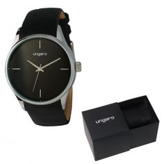 Reloj Ungaro Gio.Elegante reloj unisex con correa de piel....