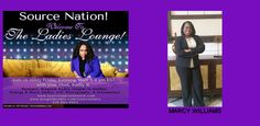 """http://www.blogtalkradio.com/sourceradio/2015/04/17/everything-wkathybmarcy-williamsearlyjackson-quinton-morgan  Source Nation! Join us tonight at 6:15 in The Ladies Lounge as Kathy B welcomes Marcy Williams into the studio to share her book, He vs She, which is a book that analyzes the gap in pay between men and women. Historically, men have made $.70 to every $.30 paid to a woman. This study shows the methodology and analysis conducted by large companies when determining """"how much is a…"""