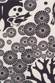 Linen Fabric - Mikko (birch/ink)