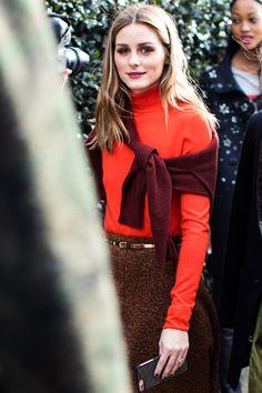 Olivia Palermo - Street style à la Fashion Week automne-hiver 2017-2018 de Londres - February 2017