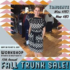 Local lady alert! Ottawa's Tangente hand delivered some amazing pieces at amazing prices including this gorgeous black and white dress. Come celebrate slow fashion and local love this Thursday through Monday at Workshop Boutique in the Byward Market. #trunksale #workshopboutique #madeincanada #stylegoals #ottawa #ottawafashion #613 #ottawa2017 #northdal #canadiandesigner #madeincanada #ottawa #ottawastyle #ottawalife #ottcity #bywardmarket #ottawastyle #tangente