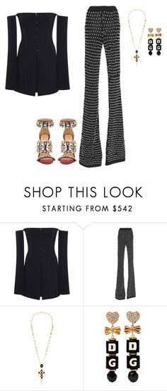 """Untitled #5442"" by teastylef ❤ liked on Polyvore featuring Jonathan Simkhai, Balmain, GEDEBE and Dolce&Gabbana"