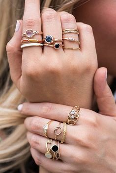 STACKED | Bario Neal Rings. I like each individual ring, but not so much all together.