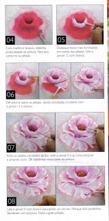 Luci Artes: Pintura de Rosa -Passo a Passo