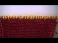Levantando puntos en dos agujas o palillos (curso básico) - YouTube