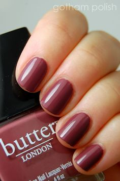 butter LONDON | Toff | A darker, dustier, brownish variation on a rose pink nail lacquer | BN $11