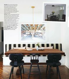 banquet for dining table - Elements of Style Blog   Inspired By: Canadian House and Home   http://www.elementsofstyleblog.com