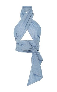 Shop Everything Chambray Scarf. This **MDS Stripes** Everything chambray scarf features a versatile design with a long silhouette. Scarf Top, Scarf Shirt, Long Scarf, Scarf Dress, Pretty Outfits, Cute Outfits, Diy Vetement, Stripes Fashion, Scarf Hairstyles