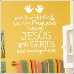 Jesus and Germs | Bathrooms and Laundry Rooms Christian Wall Decals