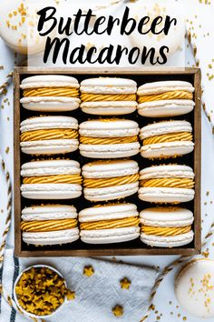 Macarons Butterbeer Macarons with Butterbeer buttercream and butterscotch ganache fillingButterbeer Macarons with Butterbeer buttercream and butterscotch ganache filling 4 Ways You Never Thought to Use Ice Cube Trays
