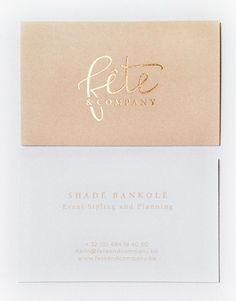 Fête & Company Business Card | From up North