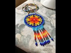 Crochet Necklace, Beads, Delaware, Flowers, Jewelry, Molde, Tela, Beaded Flowers, Jewelry Patterns
