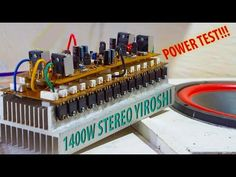 Test Power Amplifier Stereo Yiroshi with Output Power up to This super power amplifier you can make your own th. Electronics Mini Projects, Electronic Circuit Projects, Diy Electronics, Crown Amplifier, Hifi Amplifier, Diy Guitar Pedal, Subwoofer Box Design, Power Supply Circuit, Circuit Diagram