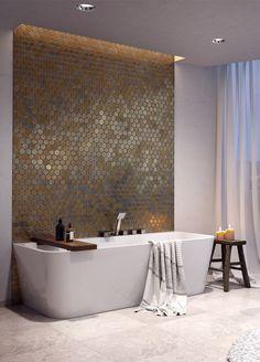 Bathroom Design Luxury, Bathroom Layout, Modern Bathroom Design, Bathroom Spa, Bathroom Toilets, Small Bathroom, Lavabo Vintage, Wooden Wall Design, Spa Room Decor