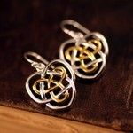 Celtic Sisters Knot Earrings from the irish jewelry company