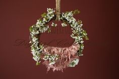 Wonderful Props - Natural and Red Hanging Swing - Digital Backdrop - Photo Prop for Newborn Photography