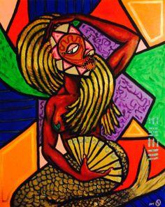 Mermaid art by Malik Seneferu