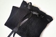 loom knit scarf in linen stitch