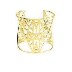 "Manchette ""Lunéa"" - Vélizance - Argent doré  #Bijoux #Jewels #Silver #Gold #Design #Tendance #Bijou #FashionJewelry #Velizance"