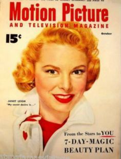 This Vintage Motion Picture Magazine November 1953 with Janet Leigh cover…