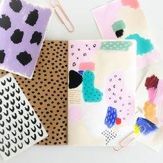 Elma de Jonge   art journal page #artjournal #art #painting #design #color #spring