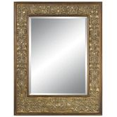 Found it at Wayfair - Old Lace Wall Mirror in Rustic Silver