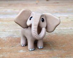 Rhino: Handmade miniature polymer clay animal by AnimalitoClay