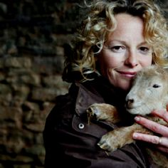 Kate Humble, features in many nature shows, cuddling the lovely lamb in BBC's 'Lambing Live'