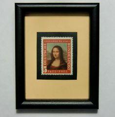 Mona Lisa - Leonardo Da Vinci.....postage stamp art
