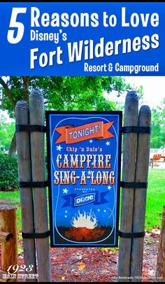 5 Reasons for Anyone to Love Disney's Fort Wilderness Resort (and you don't need to be a camper to stay there). http://1923mainstreet.com