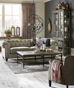 Chester Delux 3-sits soffa i tyg natur