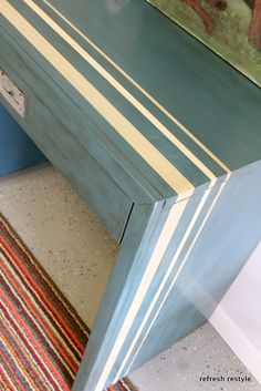 Aubusson Blue Chalk Paint Desk
