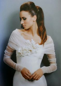 Gorgeous lace sleeves on this Jesus Peiro wedding dress