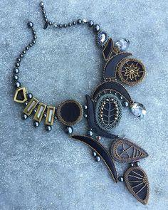 Изнанка. Щас буду спамить простите #statement #necklace #handmade