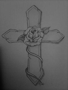 ladies cross tattoo designs | ... for tattoos tattoos for womens rose old school tattoo pink ribbon t