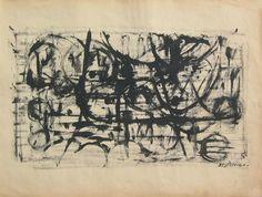 """E. Besozzi pitt. 1960 Rovi china su carta firma in basso a destra cm 40x40 arc. 235 Bibliografia: M. Bonfantini, F. Gualdoni, monografia """"Il Fiume di Besozzi""""""""Verso il'60"""" 1994 pp.9 ripr. A. Beolchi, F. Gualdoni, monografia """"Besozzi"""" 1996 pag. 42 ripr. Esposizioni: Sesto Calende, Spazio """"Cesare da Sesto"""" Palazzo Comunale feb./mar. 1996."""