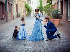 Royal Blue Lace Flower Girl Dress Kids Pageant Party Wedding Bridesmaid Ball Gown Prom Princess Form on Luulla