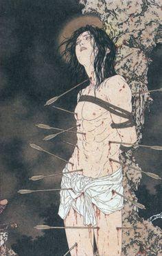 Magazine - The Work of Takato Yamamoto (mélange: traditional japanese, Beardsley & christian themes)