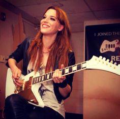 Halestorm's Lzzy Hale Receives Gibson Signature Explorer, Talks Guitars Guitar Girl, Cool Guitar, Bass, Gibson Flying V, Gibson Explorer, Lzzy Hale, Pat Benatar, Rocker Chick, Halestorm