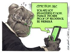 Jacob Zuma receives an SMS from the IEC. Dr Jack & Curtis capture the moment
