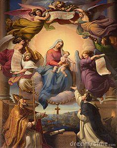 Maria santa en el Heawen