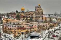 Location: Darmstadt, Germany  Date: 1990s  Architect: Friedensreich Hundertwasser  Purpose: residential building